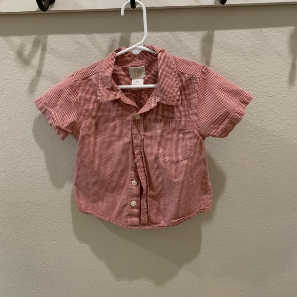 GAP Other - Baby gap Collared button up short sleeve shirt